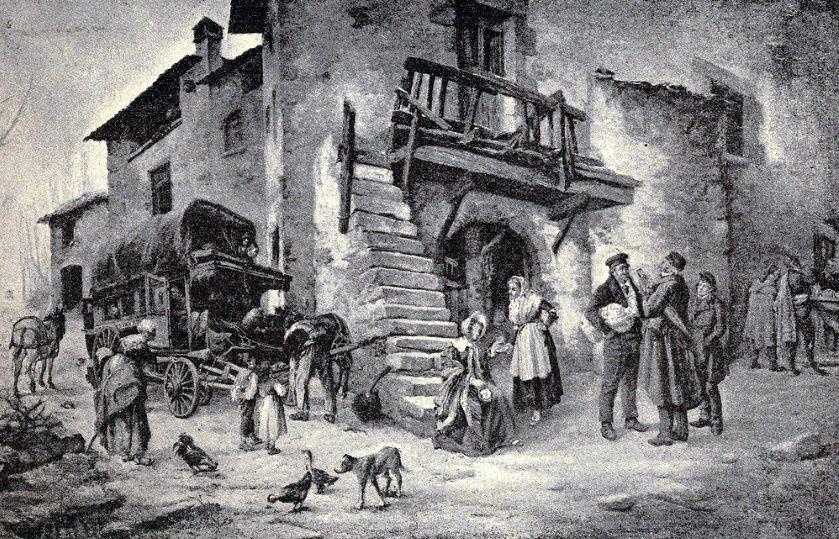 Malle- postes portugaises ; originaux et maquettes de José Brito:1 Histoire des services de malle-poste au Portugal