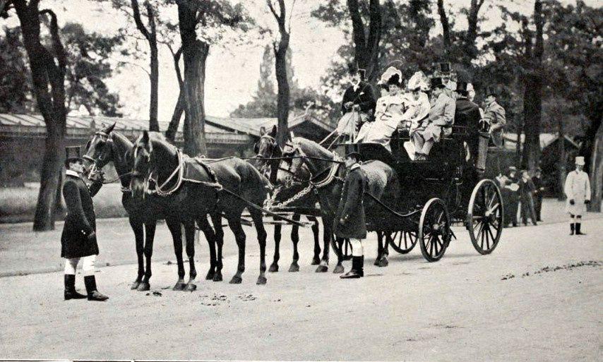 """Monsieur le Duc de Noailles """"Les Guides"""" (journée des drags 1898)"""
