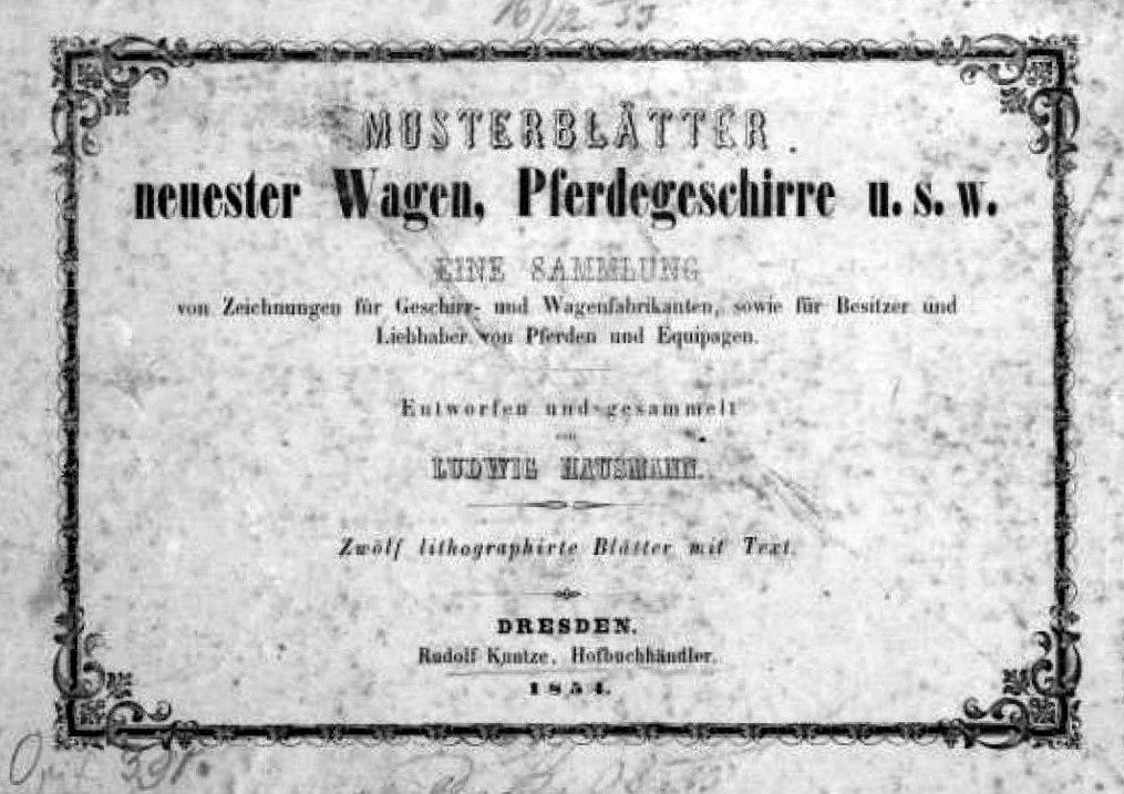 Equipages allemands en 1854