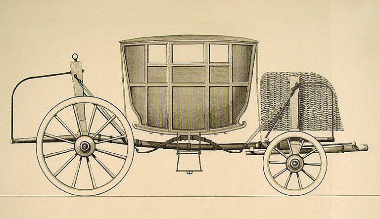 """Ouvertures réduites au minimum. Coche """" moderne"""". André-Jacob Roubo,  L'Art du menuisier-carrossier, Paris, 1771, pl. 205"""