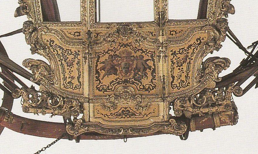 Carrosse du roi Don José 1er de Portugal, détail (Lisbonne, Musée national des carrosses)