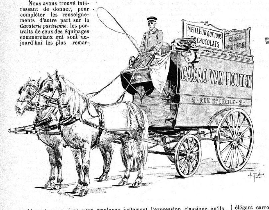 Quelques équipages de commerces parisiens en 1893
