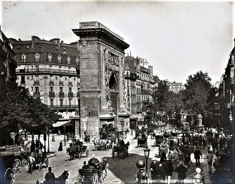 """Paris en 1889 """"De la bourse à la madeleine"""""""