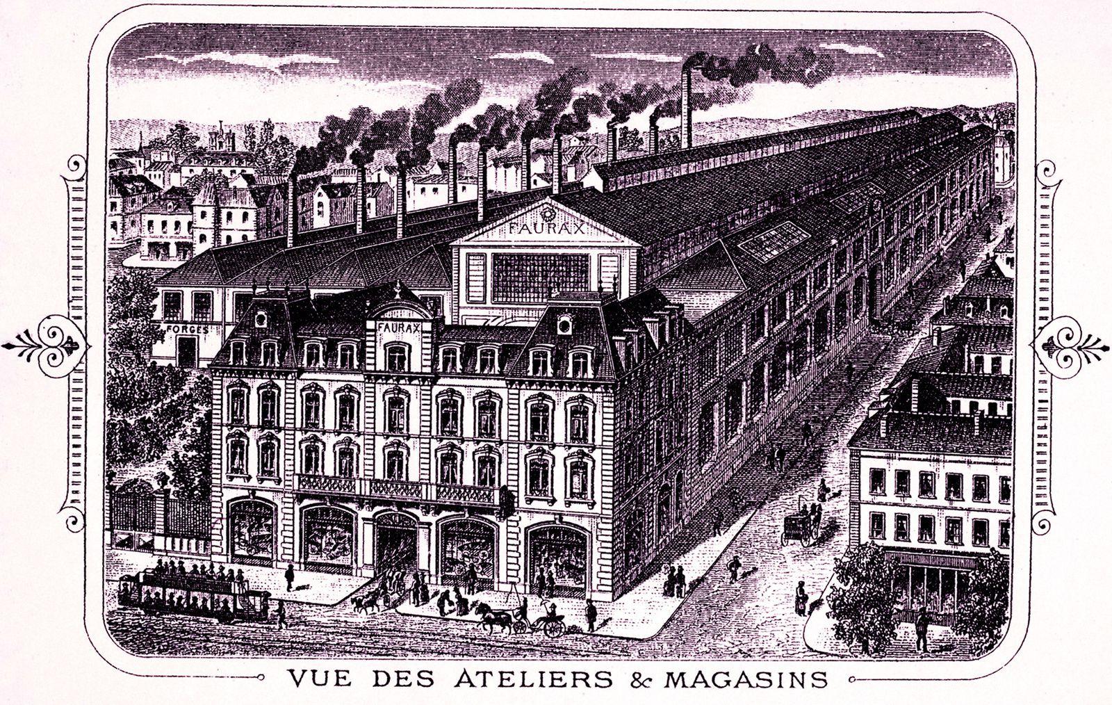 Locaux Faurax Léon en 1890 (source: Fondation Berliet Lyon)