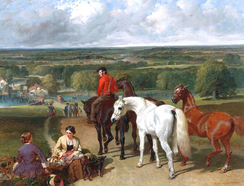 """Exercising royal horses"" 1847-1855 J.F. Herring sénior"