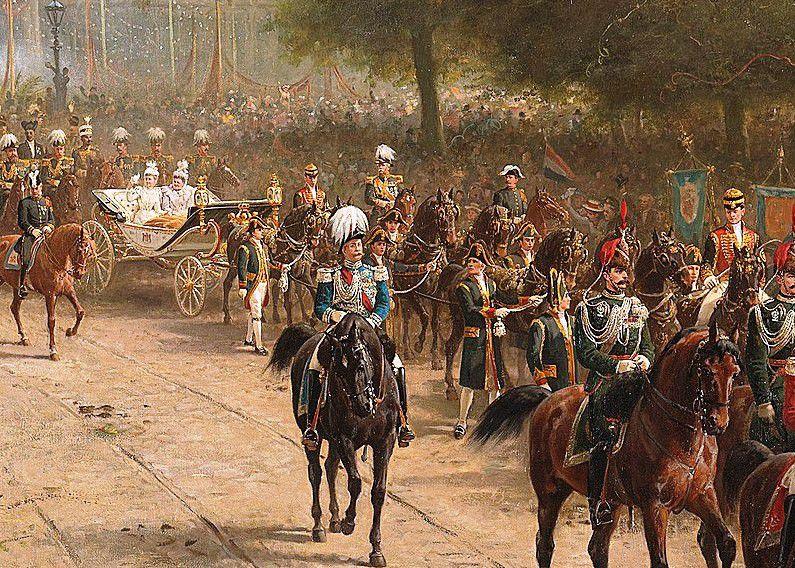 Entrée de la reine Wihelmina à Amsterdam le 5 septembre 1898. (Otto Erelman Collection Ritjksmuseum)
