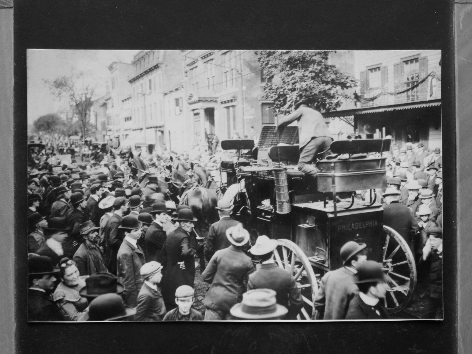 The Tantivy pendant son record entre New-York – Philadelphie - 1901(source P. Sant-Germain)