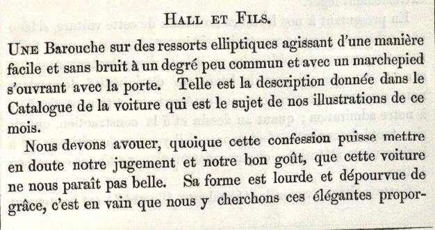 Carrossiers anglais et français de l'exposition de Londres  1862.