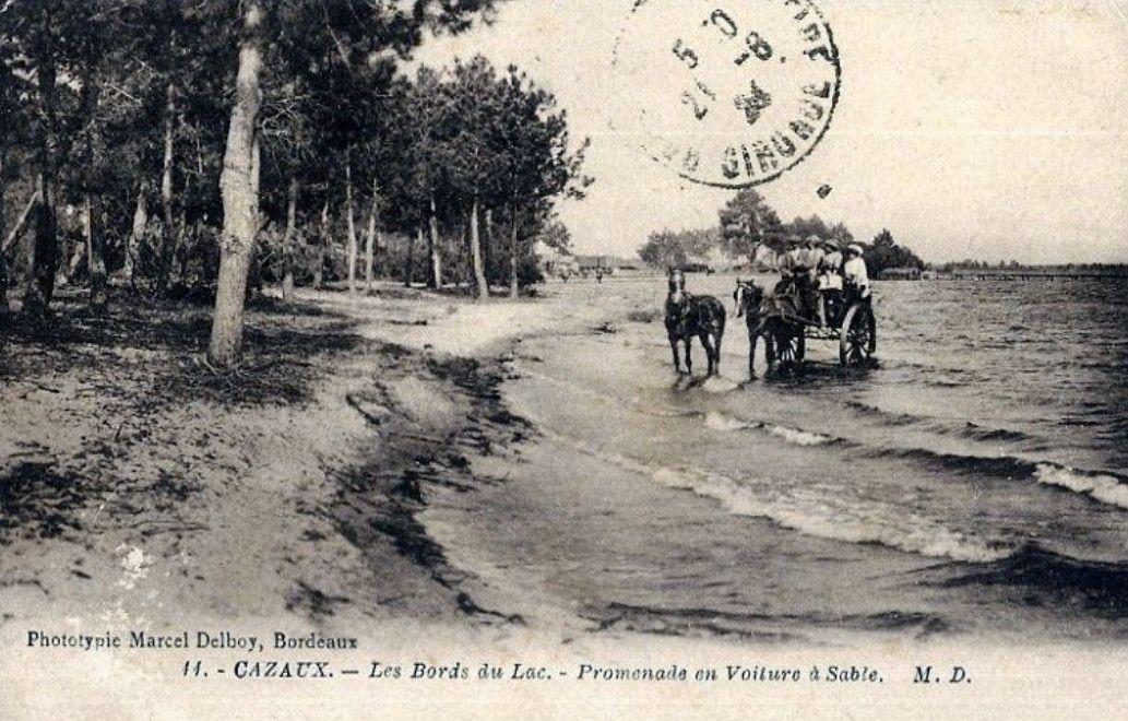Les voitures à sable du bassin d'Arcachon.