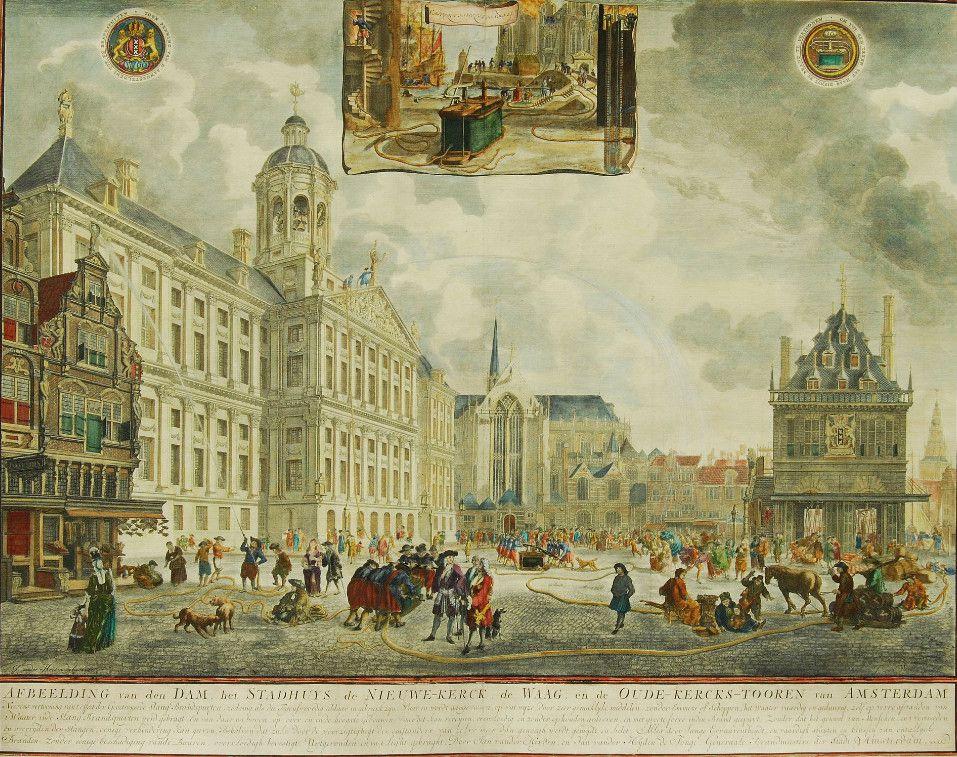 Pompe de Van den Eyden en action à Amsterdam