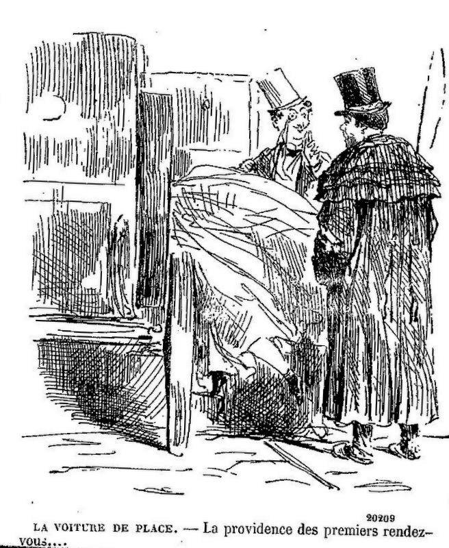 Attelage et…… dessins satiriques au 19° siècle