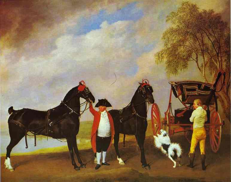 George Stubbs : The Prince of Wales's Phaeton, 1793 (Londres, The Royal Collection)