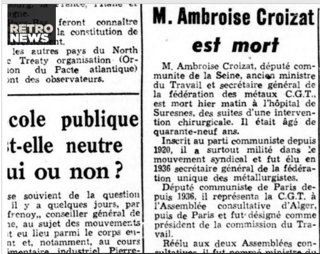 Retro News rend hommage à Ambroise CROIZAT dans - EDUCATION... SAVOIR... ob_a8fabb_retro-5