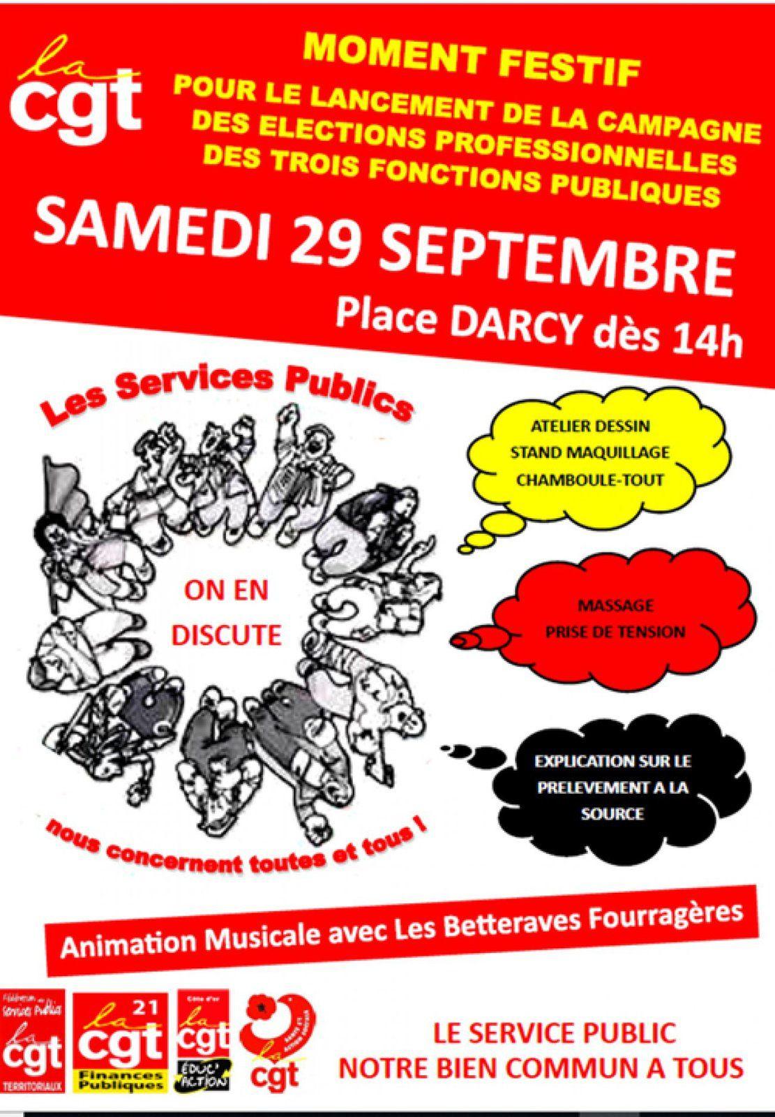 aa913d3e8ae Communiqué de la CGT Côte-d Or   Les élections professionnelles dans les 3 Fonctions  Publiques se tiendront ...