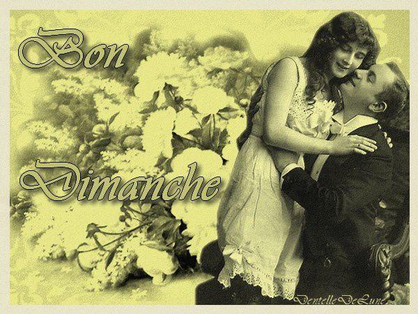 image vintage bon dimanche