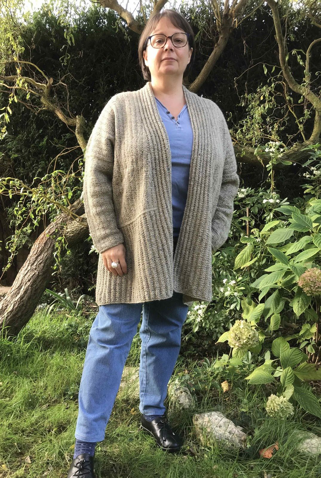 Cardigan Woodfords en Rowan Felted Tweed