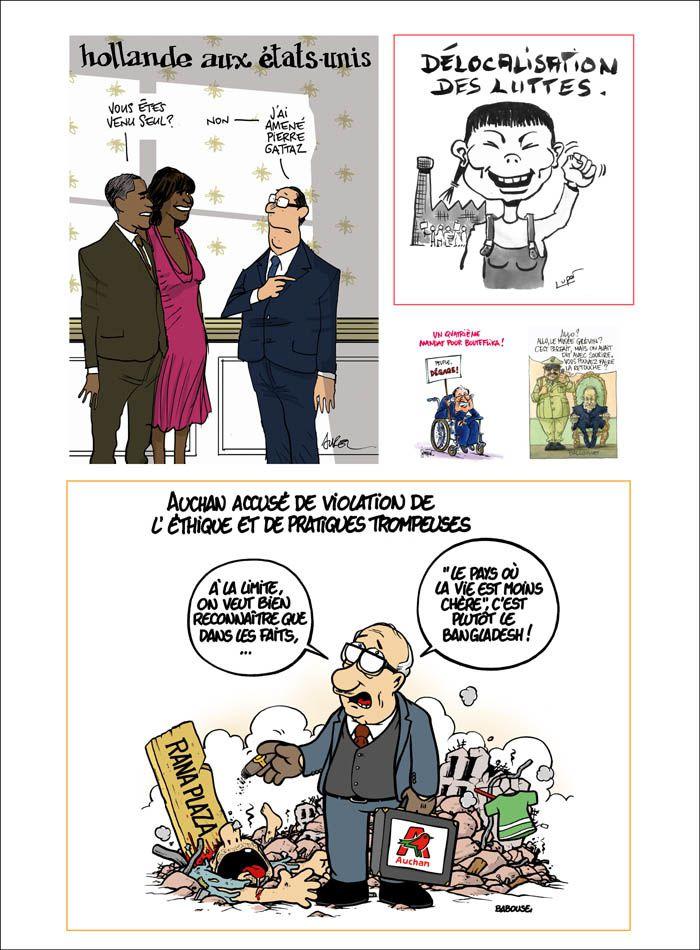 L'actu en dessins de presse : une exposition à la fête de Lutte Ouvrière