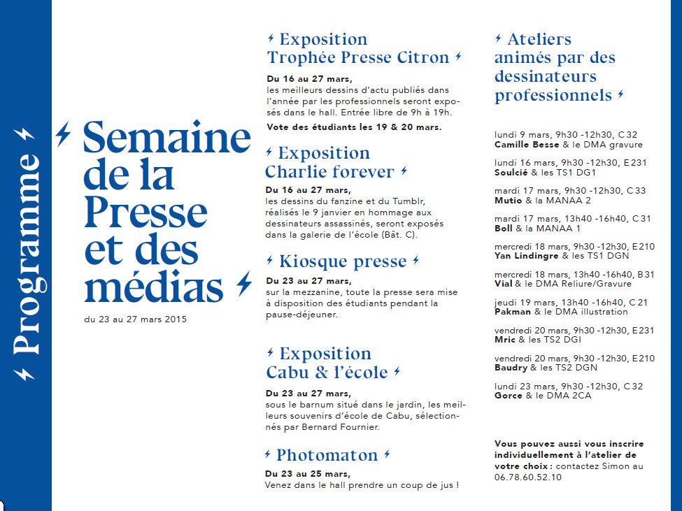 Trophée presse citron, hommage à Cabu, journée BNF/EIRIS sur le dessin de presse