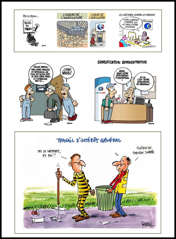 """""""L'actu en dessin de presse"""", exposition à la fête de Lutte Ouvrière"""