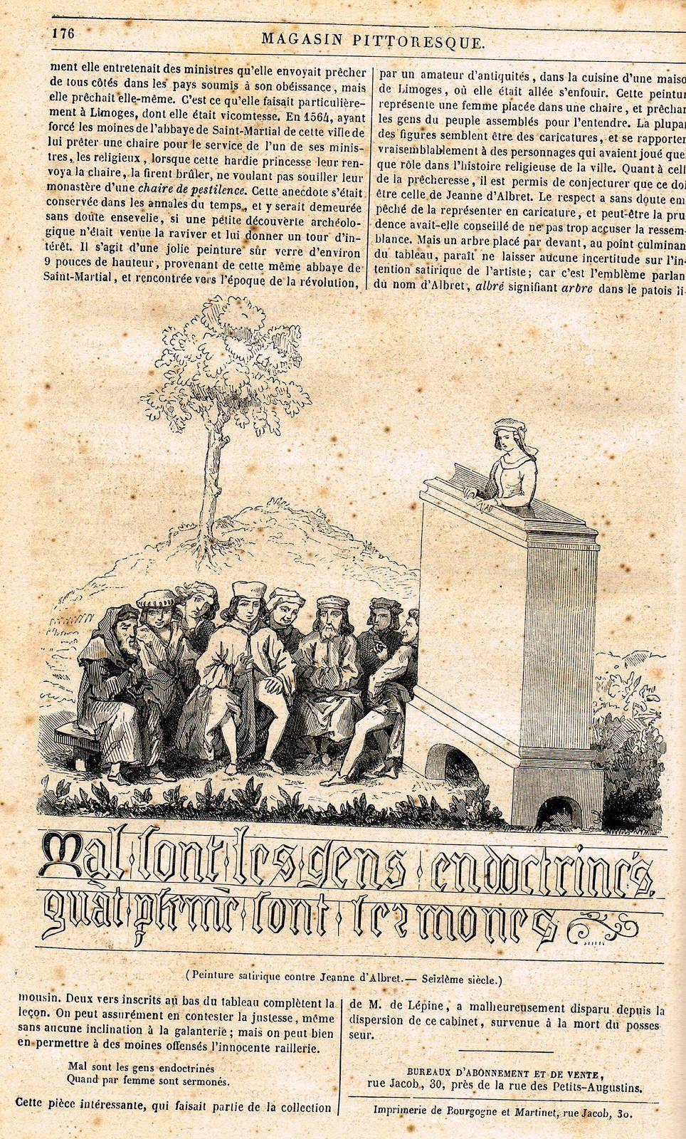 LA CARICATURE DANS LE MAGASIN PITTORESQUE 1833 à 1914+1916 et 1917
