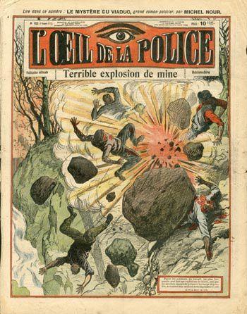 """Le journal """"L'Oeil de la police"""" : le fait-divers en demie teinte"""
