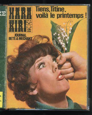 "Hara-Kiri mensuel, journal ""bête et méchant"" de Choron et Cavanna"