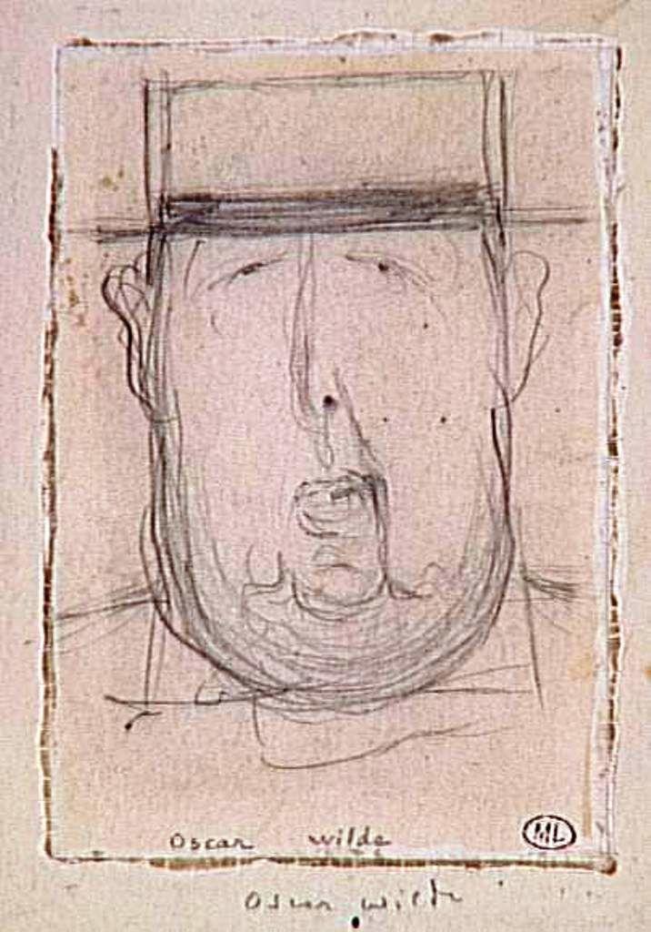 """""""Oscar Wilde caricaturé"""", par Daniel Dugne"""