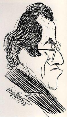 CARUSO CARICATURISTE AMATEUR, par Daniel Dugne