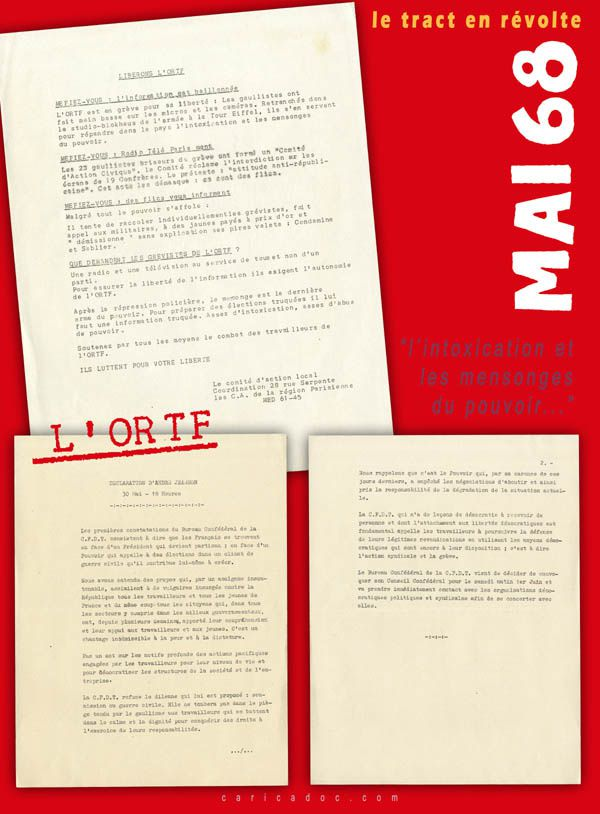 MAI 68, LE TRACT EN RÉVOLTE, exposition itinérante à louer / imprimer
