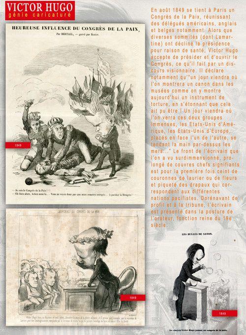 VICTOR HUGO, GÉNIE CARICATURÉ, exposition à louer / imprimer