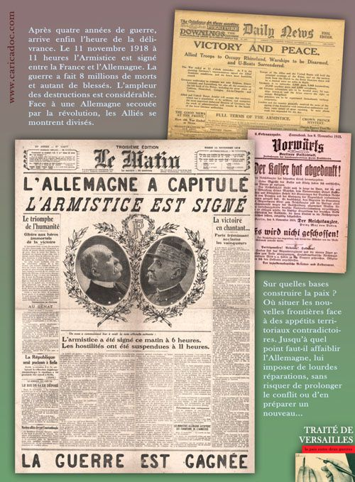 1919, TRAITE DE VERSAILLES : la paix entre deux guerres / exposition itinérante à imprimer