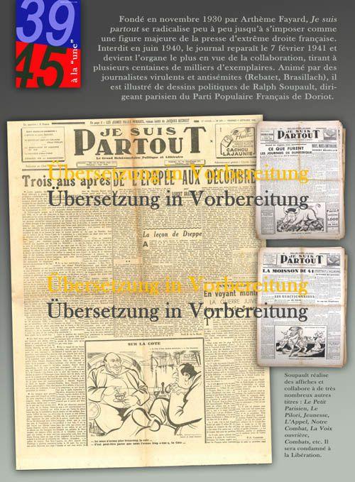 1939-1945 IN TITELSEITEN, die Presse in Frankreich während des Zweiten Weltkrieges : Eine Wanderausstellung zum selbst drucken