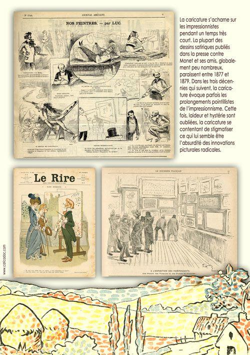 L'IMPRESSIONNISME VU PAR LE DESSIN DE PRESSE, exposition itinérante à imprimer / à louer