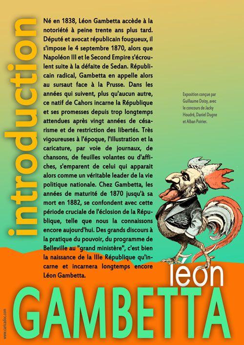 """""""Léon Gambetta, la République !"""" : exposition itinérante à louer (à imprimer)"""