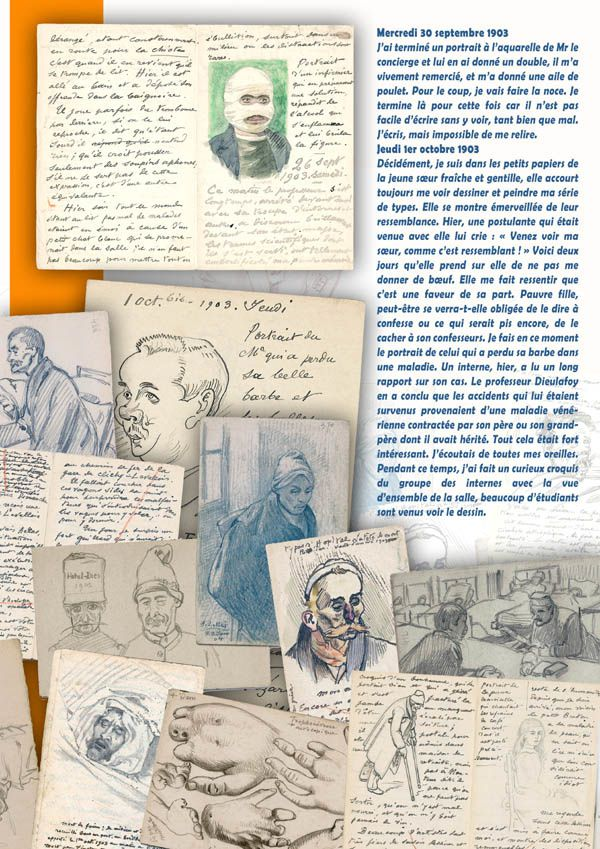 Souvenirs d'hôpital - Deux ans à l'Hôtel Dieu de Paris : exposition itinérante à imprimer