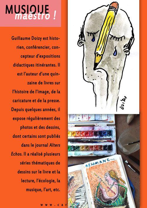 """Exposition : """"Musique maëstro !"""", une exposition itinérante de dessins sur la musique"""