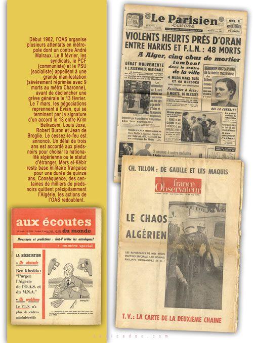 La Guerre d'Algérie, de la colonisation à l'indépendance : Exposition itinérante à louer