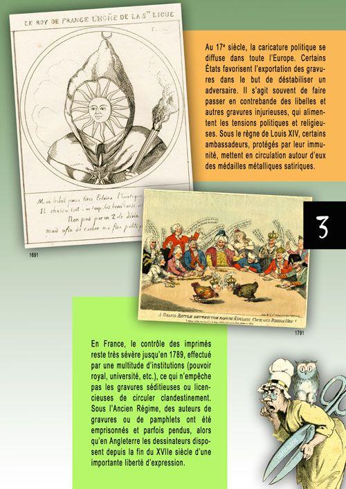 Le dessin de presse, entre liberté d'expression et censure : exposition itinérante à imprimer