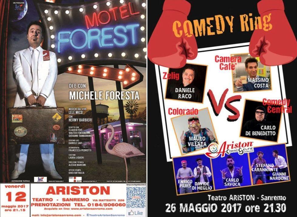 Sanremo: La comicità protagonista sul palco del Teatro Ariston con due imperdibili appuntamenti