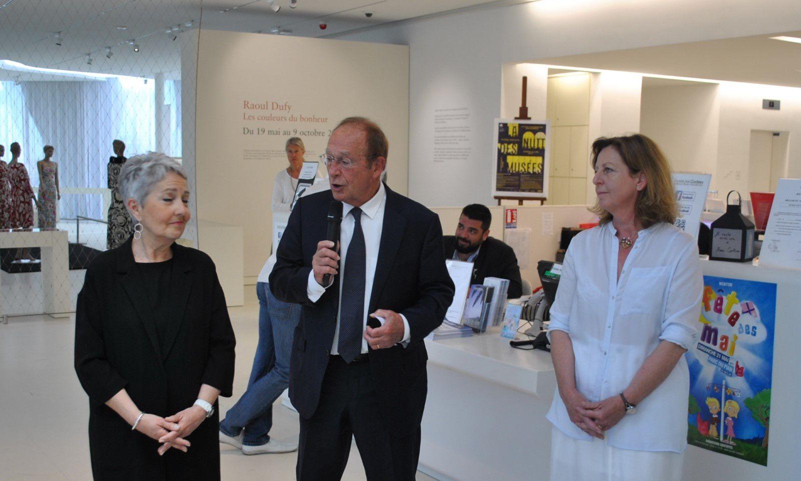 De gauche Mme Caserio, M.JC Guibal Maire Député et MMe Françoise Léonelli