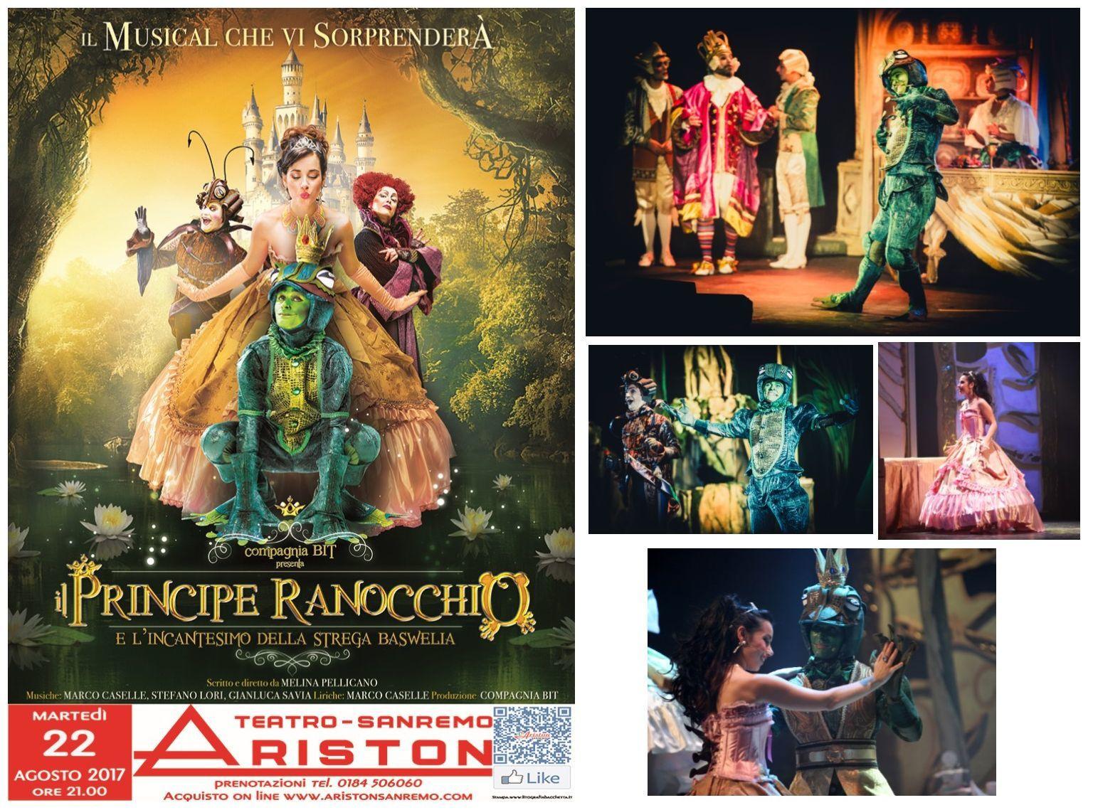 IL PRINCIPE RANOCCHIO Musical al TEATRO ARISTON di SANREMO  Martedì 22 Agosto – ore 21