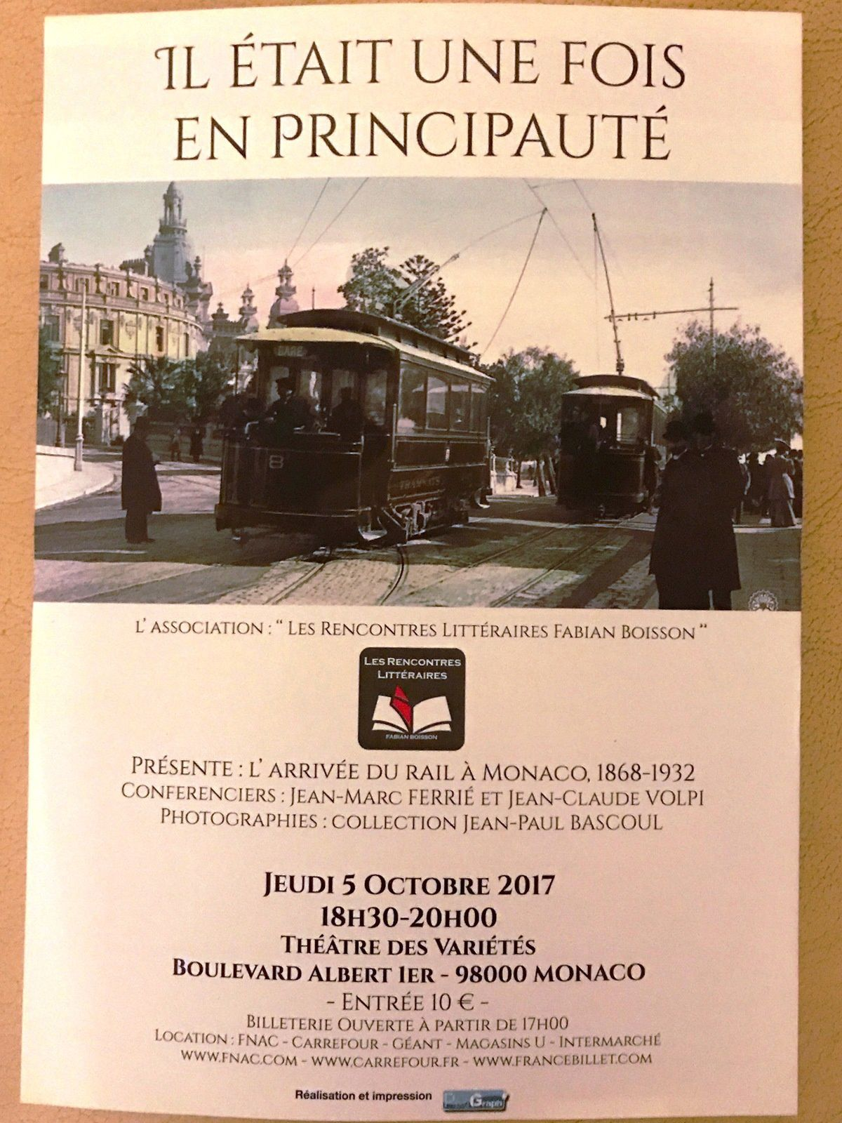 Rencontres Littéraires Fabian Boisson : Monaco 2017 - Il était une fois en Principauté