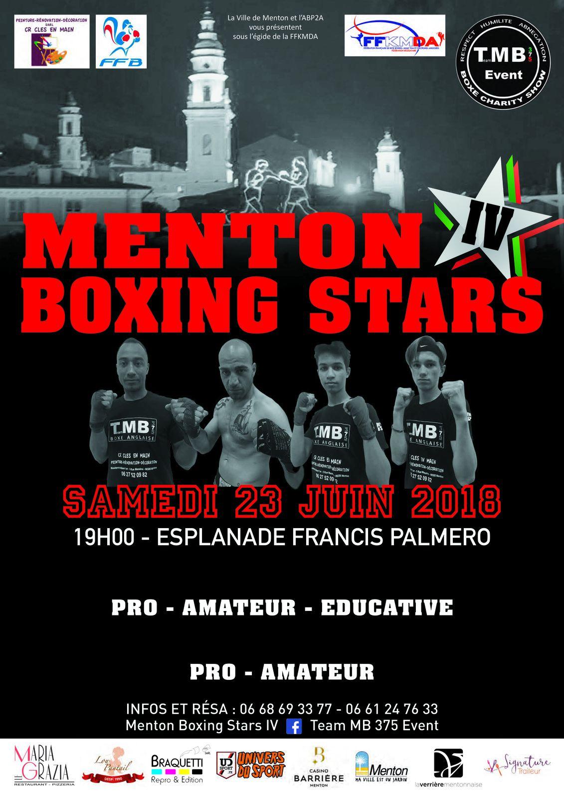 MENTON BOXING STARS: GALA ESTIVAL DU TEAM MB 375