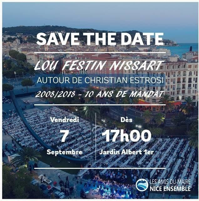 SAVE THE DATE: LOU FESTIN NISSART : CHRISTIAN ESTROSI  10
