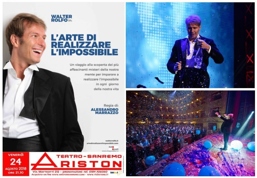 la magia di Walter Rolfo all'Ariston di Sanremo