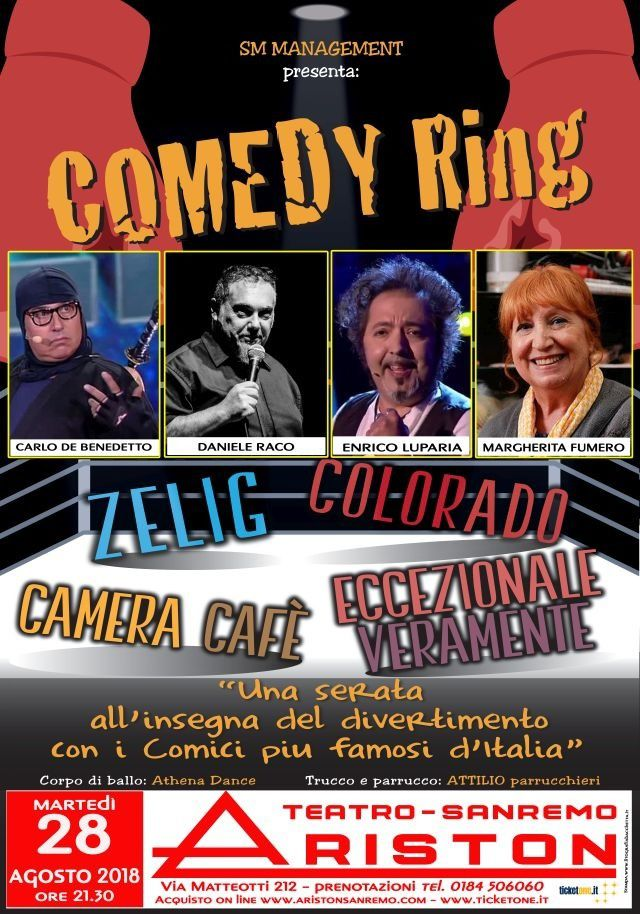 ARISTON SANREMO: COMEDY RING CON ZELIG - COLORADO - CAMERA CAFE' - ECCEZIONALE VERAMENTE                                                                                                                                                                                                                                                                                                                                                  YSYSYY