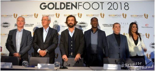 LE PRIX GOLDEN FOOT AWARD A MONACO 2018 ATTRIBUÉ A EDINSON CAVANI