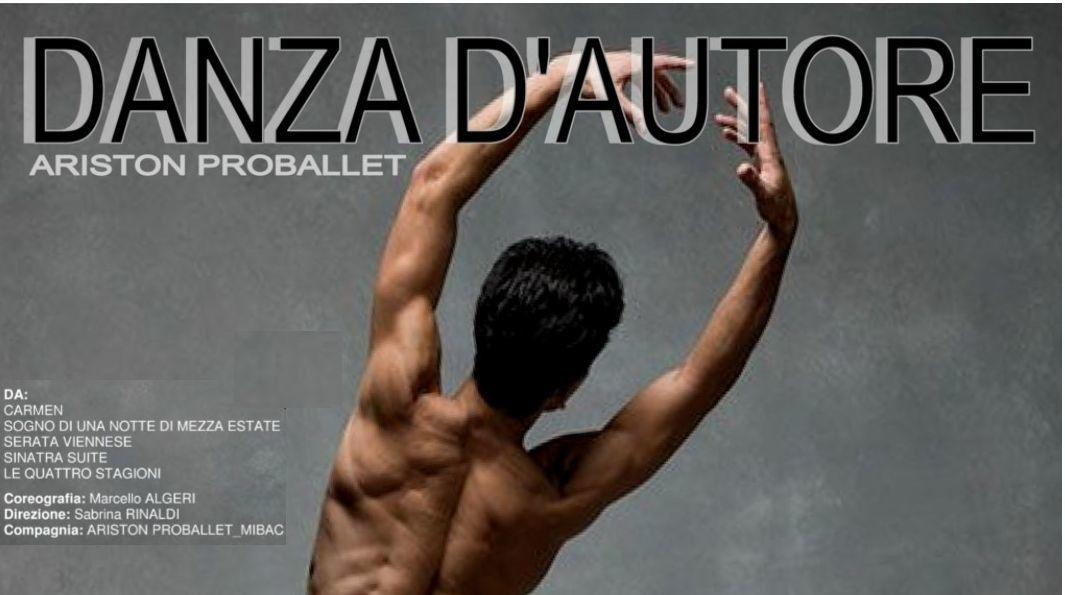 """Sanremo: Teatro Centrale - Balletto """"Danza d'autore"""" con brani tratti dal repertorio della Compagnia ARISTON PROBALLET"""