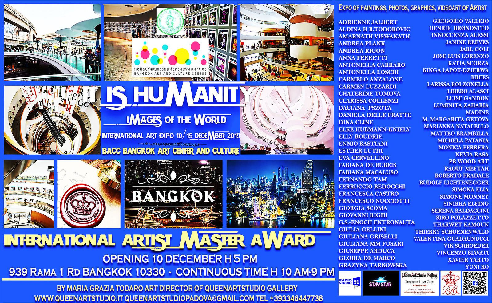 """ IT IS HUMANITY"" IMAGES OF THE WORLD   INTERNATIONAL CONTEMPORARY  ART EXPO"