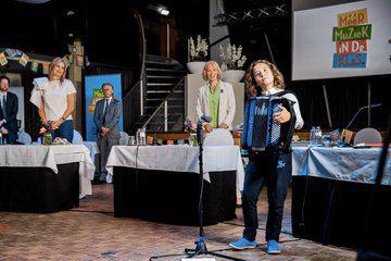 La regina Máxima firma l'accordo musicale Hoeksche Waard